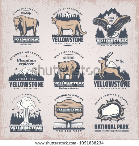 vintage colored national park
