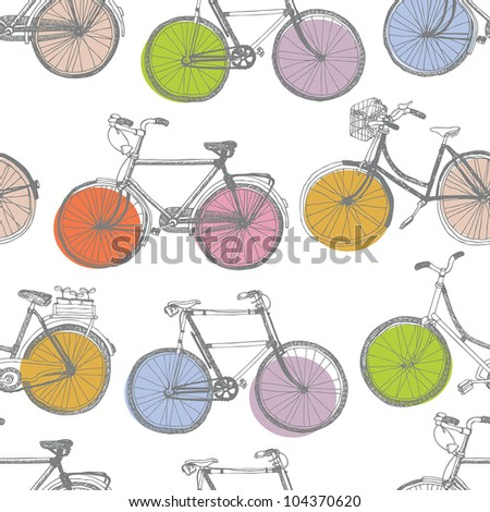 Vintage colorful bicycle background