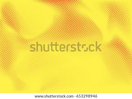 Vintage Comic Book Poster Style Dotted Background Abstract Halftone Graphic Retro Grain Effect Page