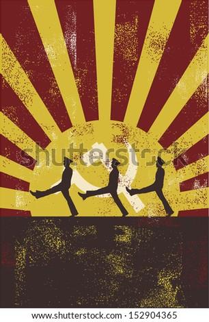 vintage communist poster  vector