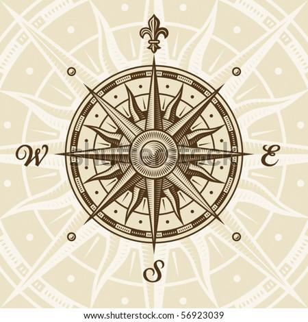 vintage compass rose. eps8...