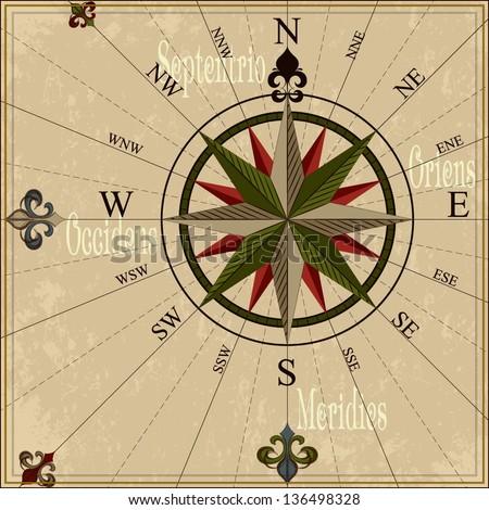 Vintage Nautical Vector Vintage Compass Rose Nautical