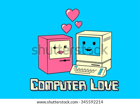vintage computers in love