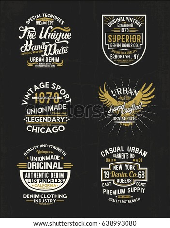 vintage concept print designs as vector
