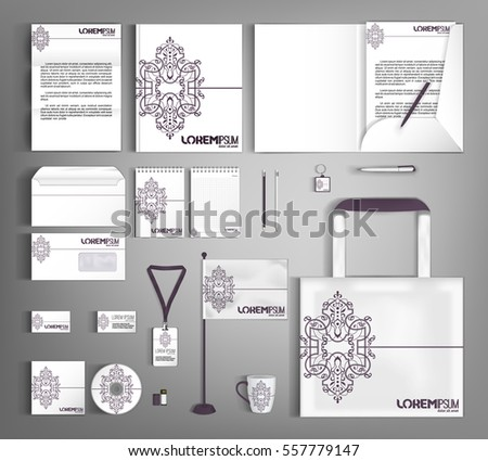 Free stationery design template download free vector art stock vintage corporate identity template design business stationery set maxwellsz