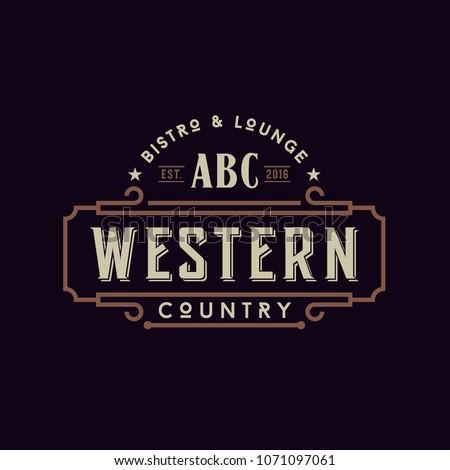 vintage country emblem...
