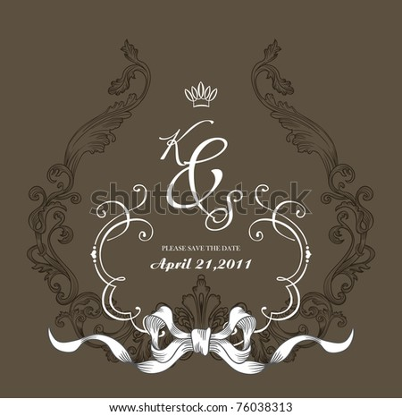 cover design best for scrapbook project DIY wedding invitation
