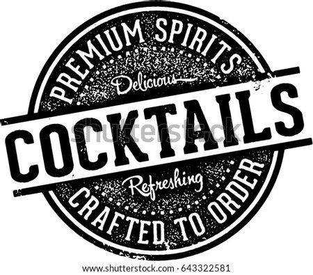 Vintage Crafted Cocktails Bar Sign