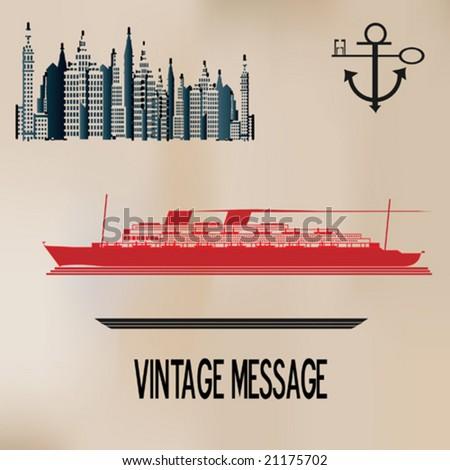 Vintage Cruise - stock vector