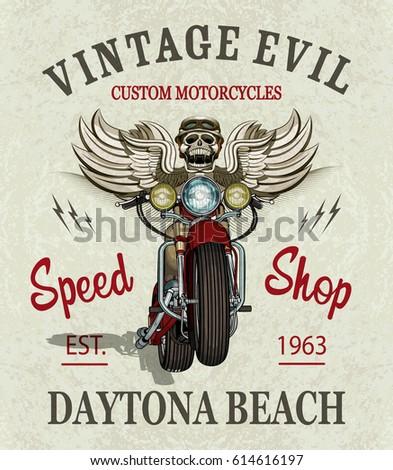 vintage custom motorcycle