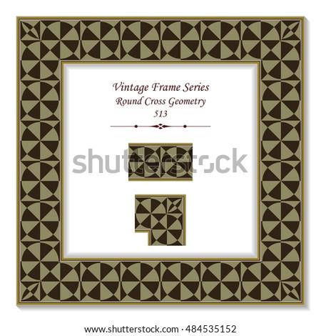 vintage 3d frame 513 round