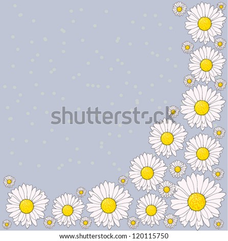 Vintage daisy background