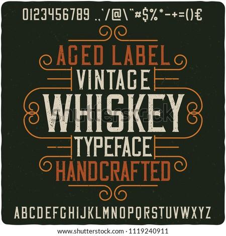 Vintage decorative font named
