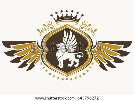 Free Winged Lion Vector - Download Free Vectors, Clipart