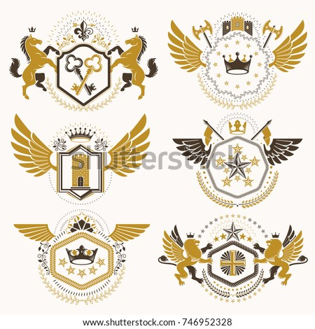 vintage decorative heraldic