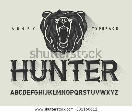 vintage decorative modern font...