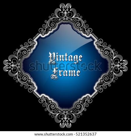 vintage decorative silver frame ...