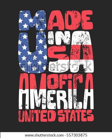 Vintage Denim Typography, American t-shirt graphics.