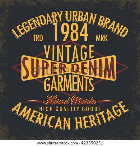 vintage denim  typography