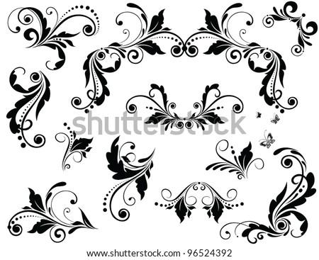 Line Art Flower Design : Vector flower ornament download free art stock graphics