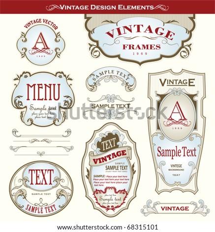 vintage design elements #68315101