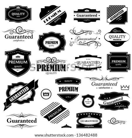 vintage design elements   set....