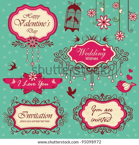 Vintage design frames ornaments