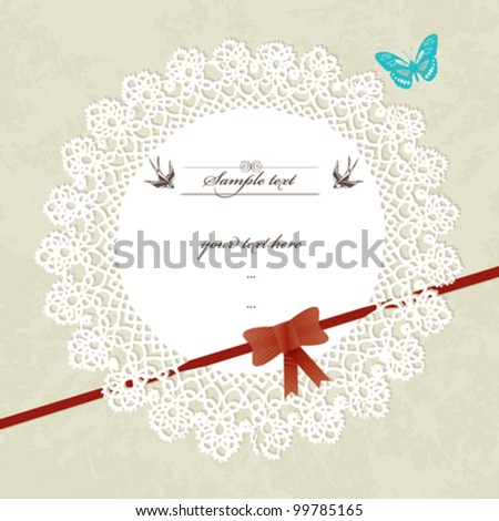 Vintage design invitation/greeting card