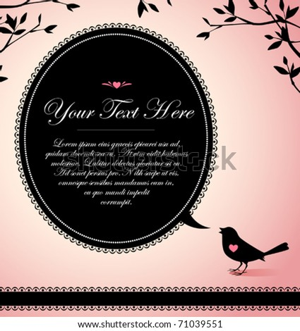 vintage design of a bird with a