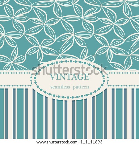 Vintage Design Seamless floral pattern Cold repeating texture