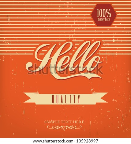 Vintage Design Template - Orange