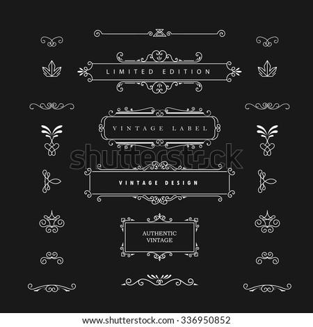 vintage design vector elements. ...
