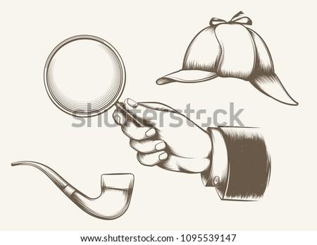 vintage detective elements