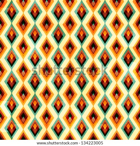 vintage diamond seamless pattern