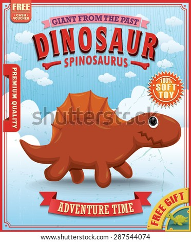 vintage dinosaur poster design