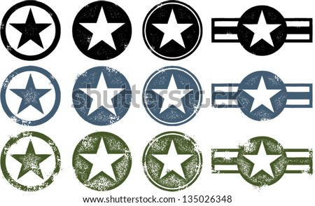 vintage distressed military