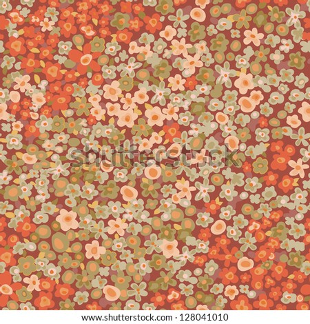 vintage ditsy flowers seamless background