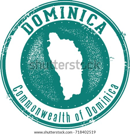 vintage dominica island country