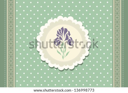 Vintage doodle flower for greeting card vector eps 10