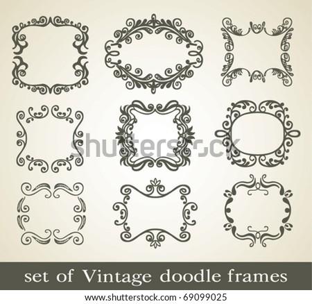 Vintage doodle frame. - stock vector