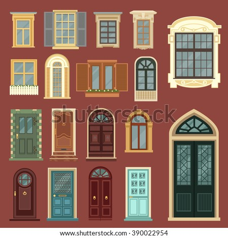 vintage doors. detailed windows....