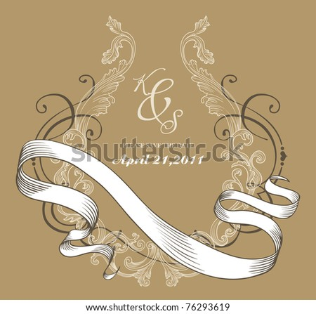 stock vector vintage drawings on recycle paper 76293619 This super hot and petite littlenaked teen girl