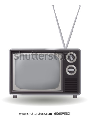 vintage electronic - tv graphic icon