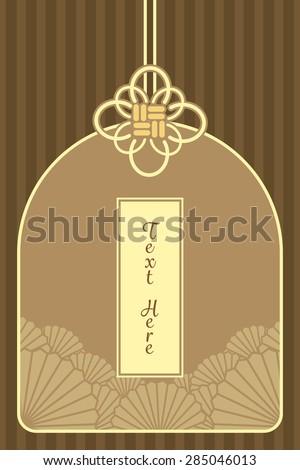 vintage elegant golden japanese