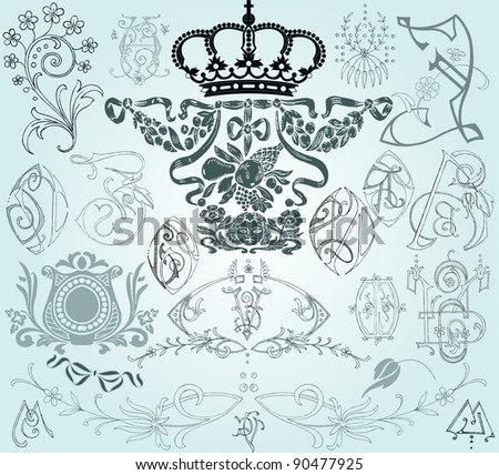 Vintage elements - stock vector