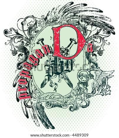 vintage emblem #4489309