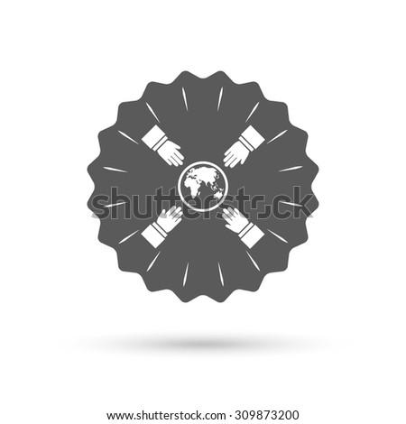vintage emblem medal hands
