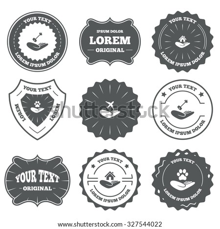 vintage emblems  labels
