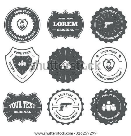 vintage emblems  labels....