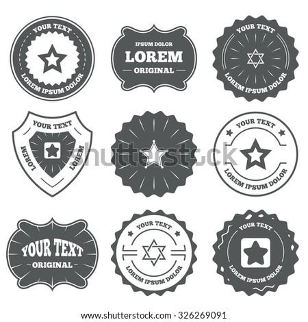 vintage emblems  labels. star...